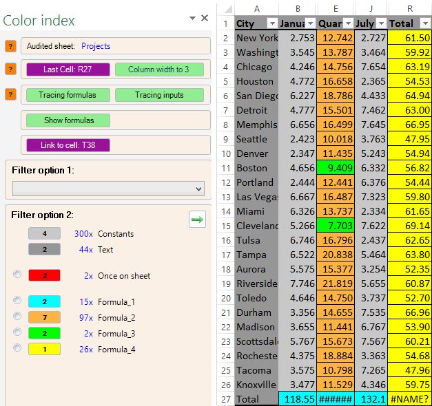 how to add colors to excel spreadsheet