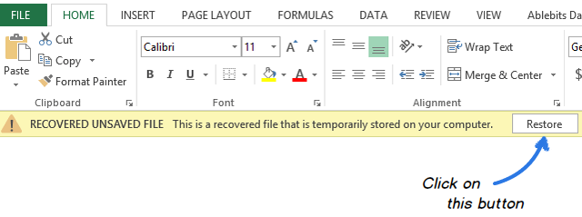 how to get back overwritten excel files
