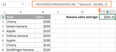 Find an average of cells that match criteria partially