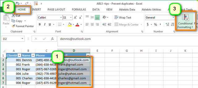 Small Invoice Excel Avoid Duplicates In Excel  Autohighlight Duplicates In New Entries Hand Receipt 1297 Word with Delta Receipt Apply Conditional Formatting To The Selected Column Taxi Receipts