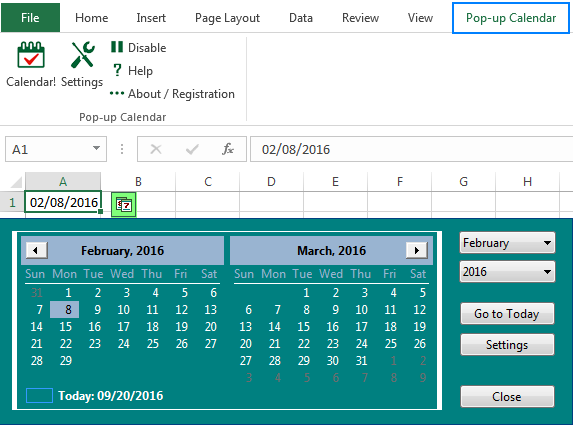 Excel Calendar Template | How To Insert Calendar In Excel Date Picker Printable Calendar
