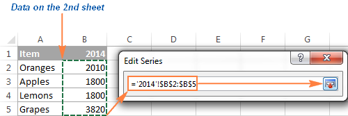 Select Data On The Second Sheet You Want To Add Your Excel Graph