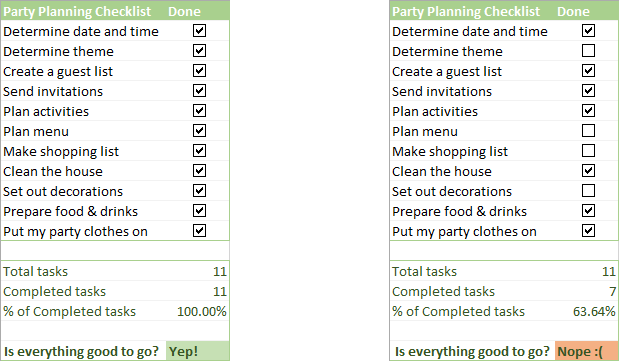 Insert checkbox in Excel: create interactive checklist or to-do list