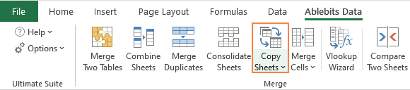 The Copy Sheets tool for Excel
