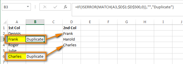 Compare two columns and remove duplicates in Excel