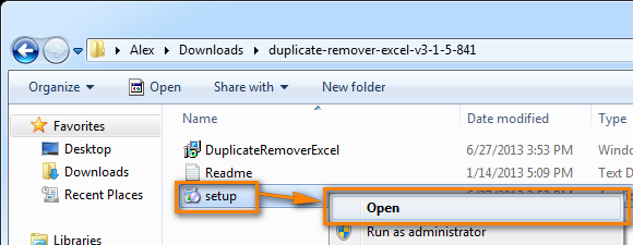 Install the Duplicate Remover add-in