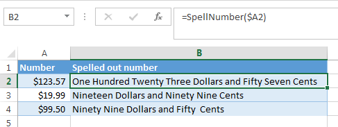 convert number to words in excel 2010