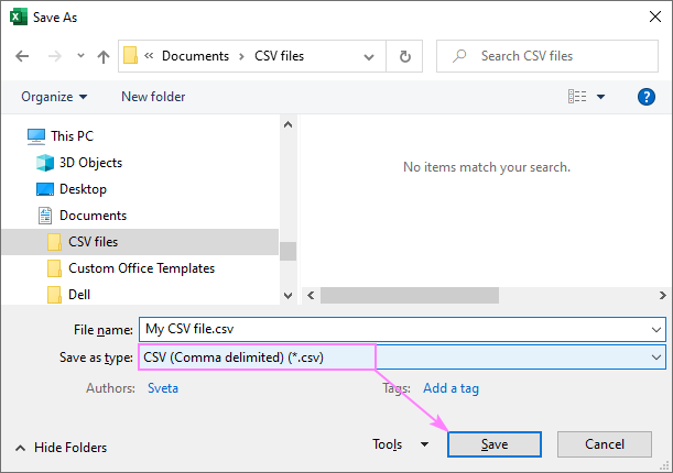 Save your Excel worksheet as a CSV (Comma delimited) file.