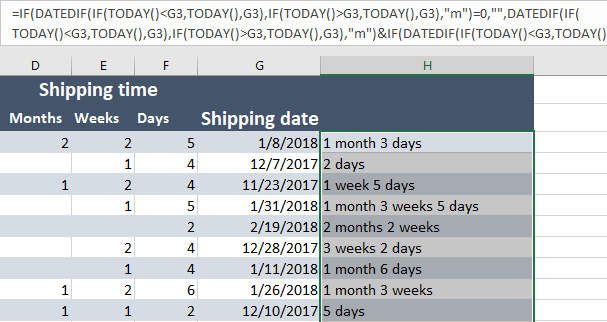 Quickly calculate the number of days between two dates in Excel
