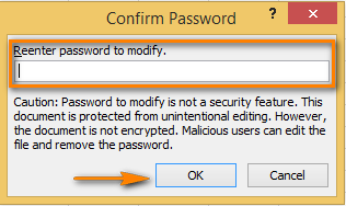 Reenter the password to confirm