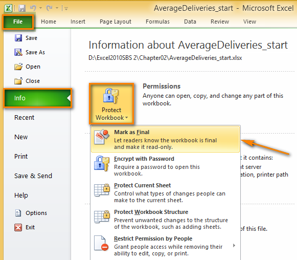 How To View Change Remove Excel 2016 2010 Document