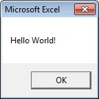 See the message Hello World
