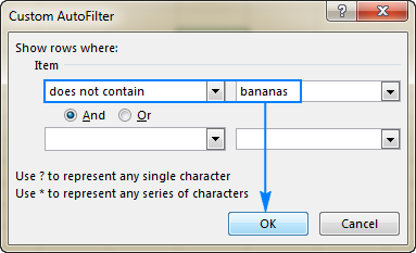 Creating a text filer in Excel