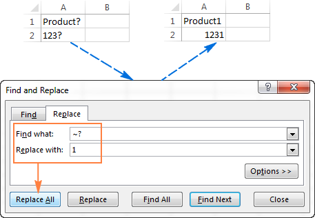 Using Excel Find and Replace in the most efficient way