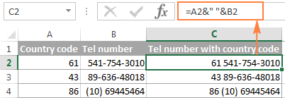 Using the text concatenation operator in Excel formulas