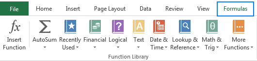 Basic Excel functions