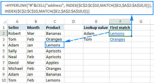Excel HYPERLINK function to quickly create and edit multiple links