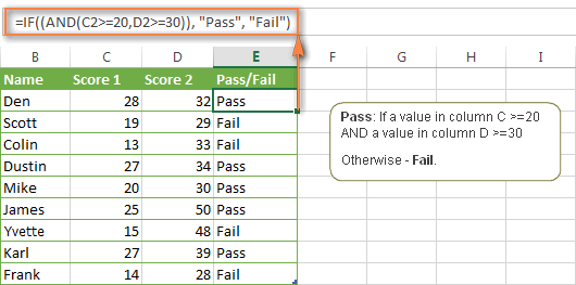 Excel IF statement with multiple AND/OR conditions, nested