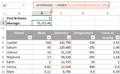 Excel INDEX function - formula examples and most efficient uses