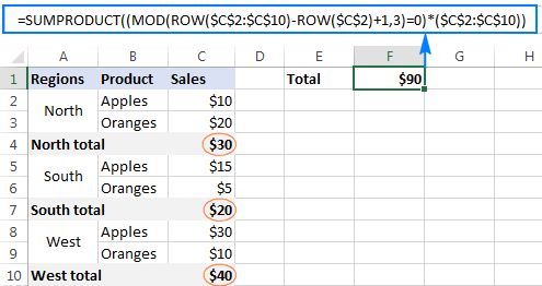 Excel MOD function to get remainder and more