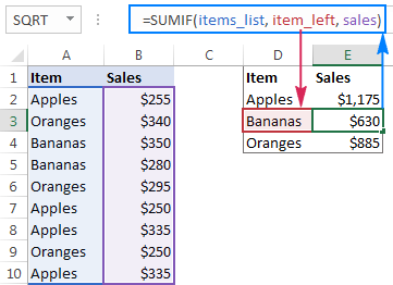 Using a relative name in a formula