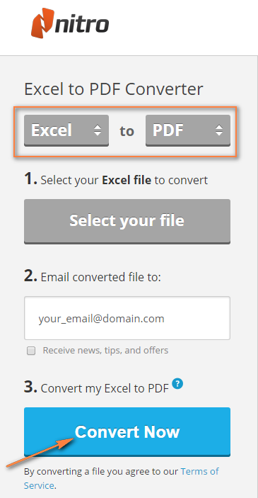 Convert Excel to PDF by means of Microsoft Excel and online