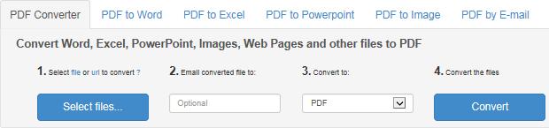 Online Excel to PDF converter