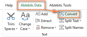 Ablebits Convert tool for Excel