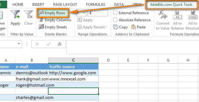 3 Ways To Remove Blank Rows In Excel Quick Tip