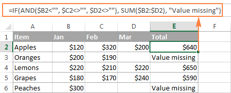 Using the Excel SUM function as part of a bigger formula