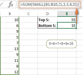 Sum the largest and smallest numbers in a range