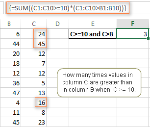 Using SUM array formulas in modern Excel versions