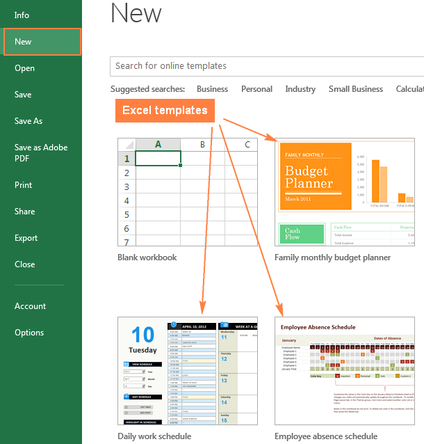 excel templates - how to make and use templates in microsoft excel, Modern powerpoint