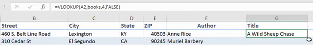 VLOOKUP in action