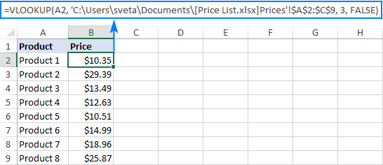 Formula to Vlookup from a closed workbook