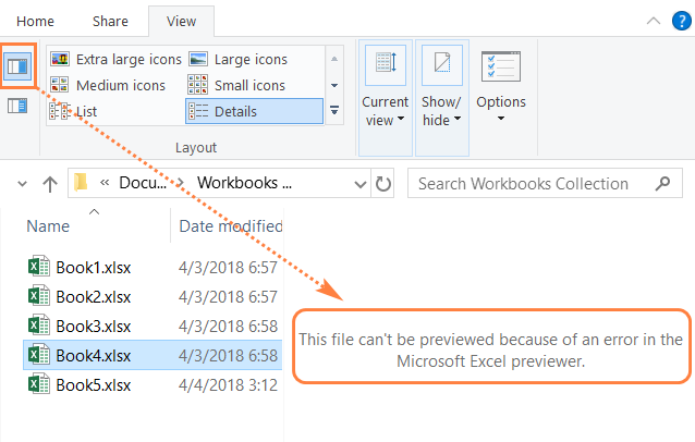 alt=Enabled Preview pane in File Explorer causes the issue