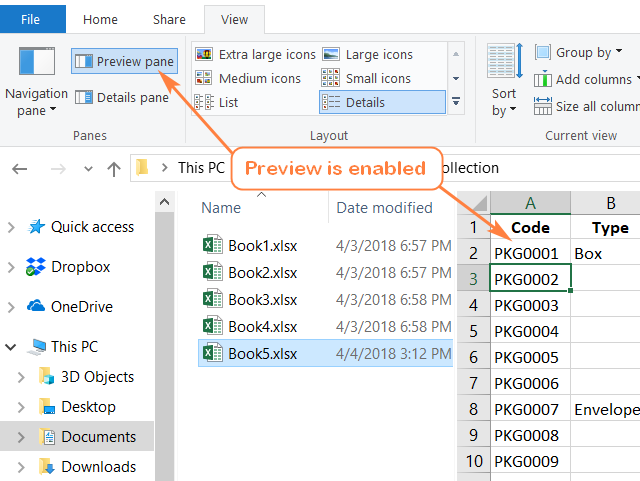 alt=How to enable the Preview pane in Windows Explorer