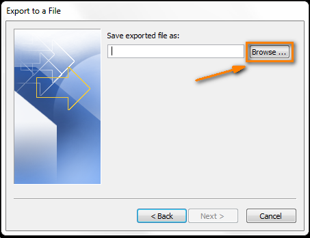 Click the Browse button to select a destination folder.