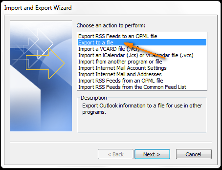 Export contacts from Outlook 2016, 2013 or 2010 to Excel