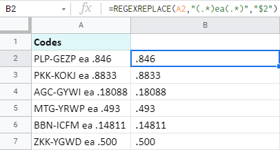 Use REGEXREPLACE to extract all data after a certain text.