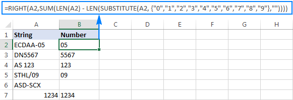 Another formula to get number from the end of a string