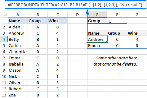 Limit the number of rows returned by the FILTER function