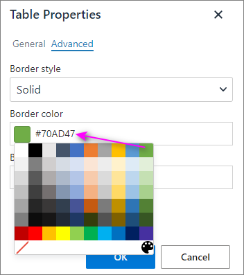 Retrieve the code of a color from the Properties.