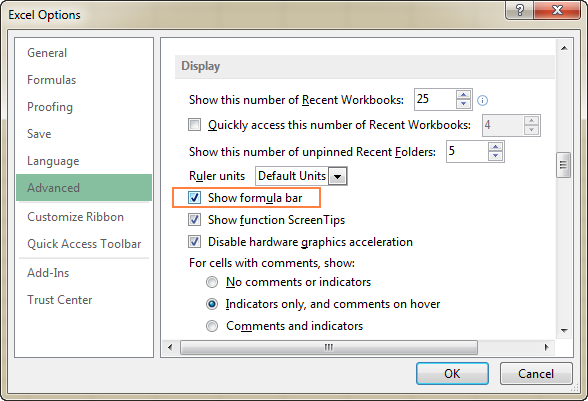 lock excel toolbar