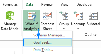 How to use Goal Seek in Excel to do What-If analysis