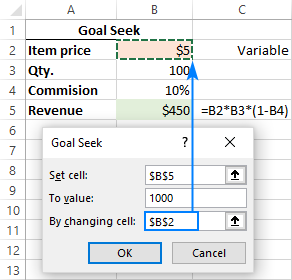 Doing Goal Seek analysis in Excel