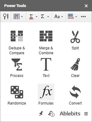 Formulas tool in Power Tools.
