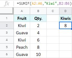 Sum numbers based on criteria.