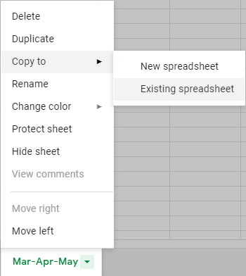Copy the tab into an existing spreadsheet or a new spreadsheet.
