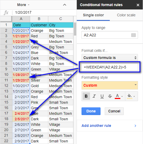 how to add a custom color in google sheets